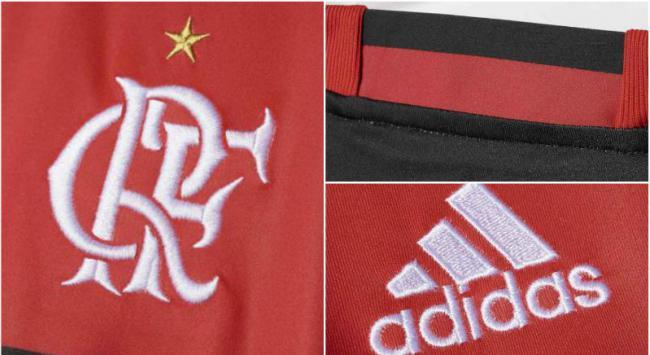 Montagem - Nova camisa do Flamengo