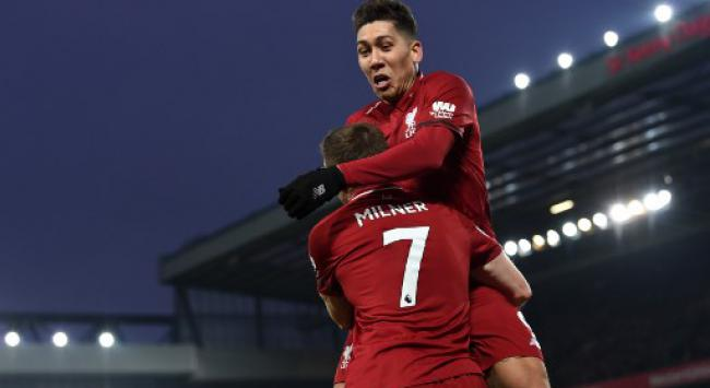 Firmino e Milner - Liverpool x Crystal Palace