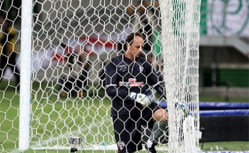 Rogério Ceni toma gol no Allianz Parque (foto: Reginaldo Castro/LANCE!Press)