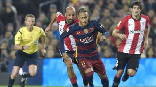 HOME - Barcelona x Athletic Bilbao - Copa do Rei - Neymar (Foto: Lluis Gene/AFP)