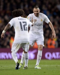 Marcelo x Benzema - Barcelona x Real Madrid