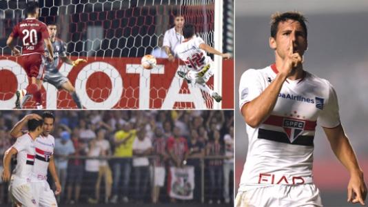 HOME - São Paulo x River Plate - Copa Libertadores - Calleri (Fotos: AFP/LANCE!Press)