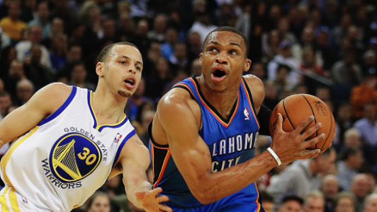 Russell Westbrook e Stephen Curry
