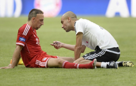 Ribéry e Guardiola - Bayern de Munique