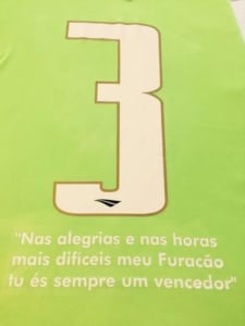 Camisa verde do Santa Cruz, homenageando a Chape