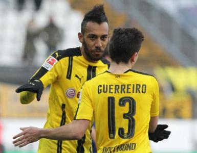 Guerreiro e Aubameyang - Darmstadt x Borussia Dortmund