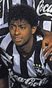 Carlos Alberto Dias - com a camisa do Botafogo