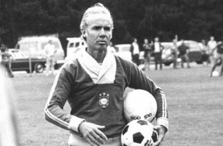Zagallo treinando a Seleção na Copa de 1974