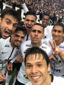 Selfie Romero Corinthians x Palmeiras