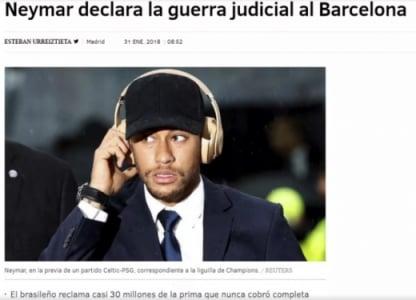 Neymar 'declara guerra' ao Barcelona na justiça — Jornal