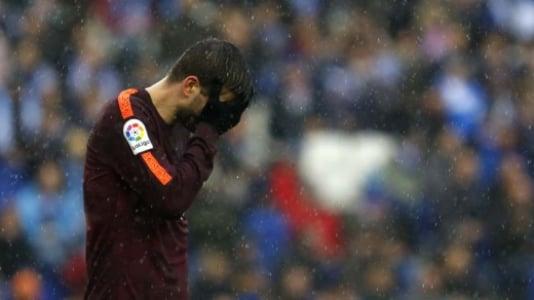 Espanyol x Barcelona - Piqué