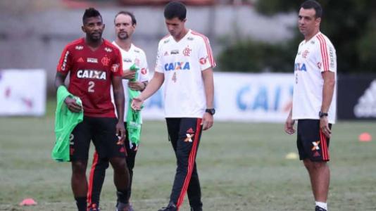 Maurício Barbieri e Rodinei - Treino do Flamengo