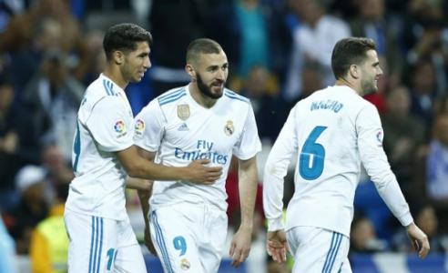 Hakimi, Benzema e Nacho - Real Madrid x Celta de Vigo