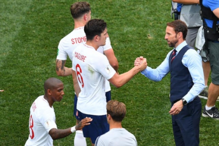 Southgate e Maguire - Inglaterra x Panamá
