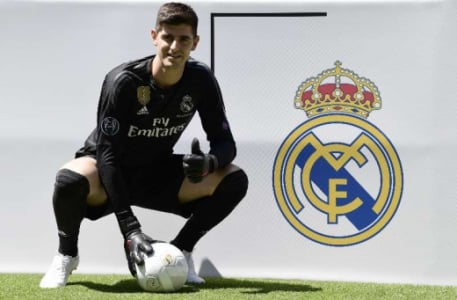 Courtois apresentado no Real Madrid