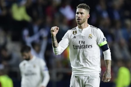 Real Madrid x Atletico Sergio Ramos