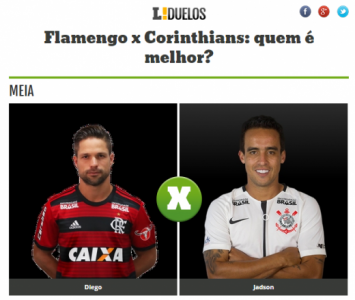 Flamengo x Corinthians - Duelo