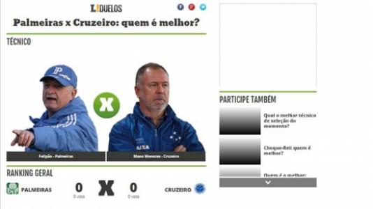 Duelo - Palmeiras x Cruzeiro