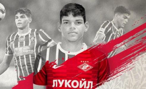 dcbbf03784 Spartak anunciou Ayrton Lucas nesta manhã (Foto  Divulgação)
