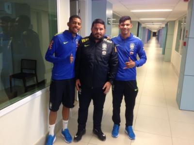 Matheus Fernandes, Eduardo Barroca e Igor Cássio