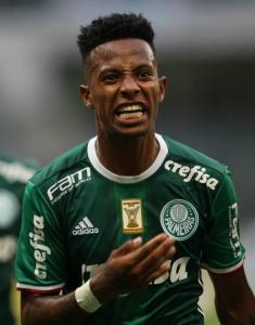 Tchê Tchê comemora gol pelo Palmeiras