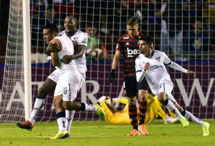 LDU x Flamengo Cuellar Comemoração LDU