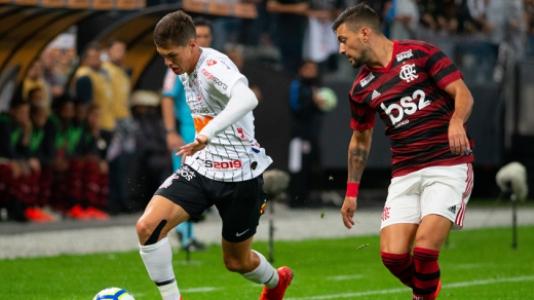 Corinthians x Flamengo Arrascaeta