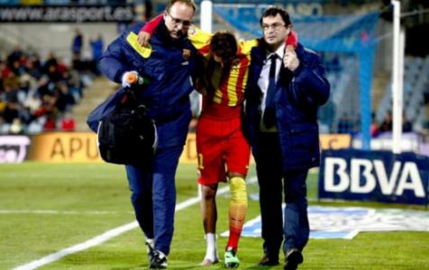 Neymar machucado Barcelona