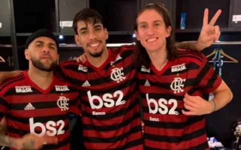 Paquetá, Dani Alves e Filipe Luís - Flamengo