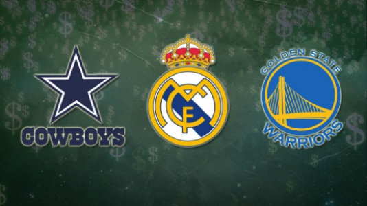 Montagem - Cowboys, Real Madrid e Golden State Warriors