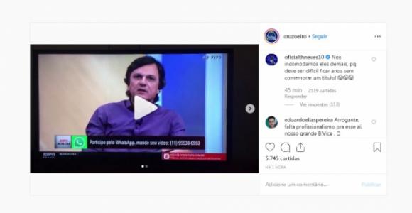 Thiago Neves xinga Mauro Cezar