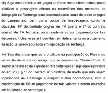 Contrato Flamengo x Globo - Inicial Fla
