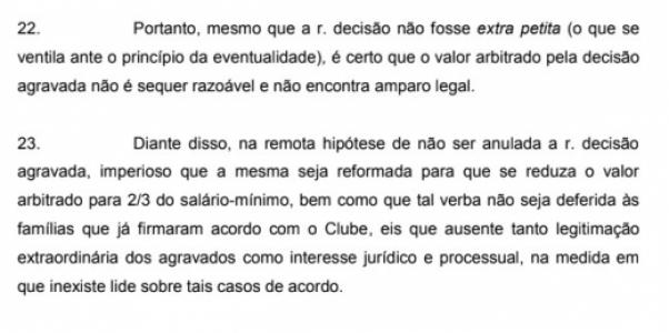 Recurso Flamengo - Parte Clube