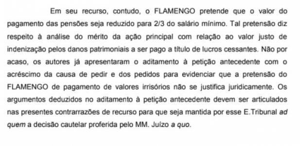 Recurso Flamengo - Parte MP