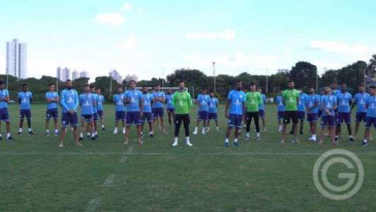 Jogadores do Goiás paralisação coronavírus