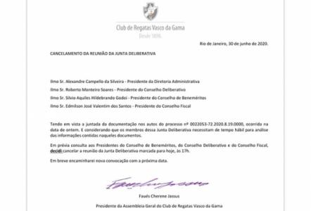 Reunião da Junta Deliberativa - Vasco