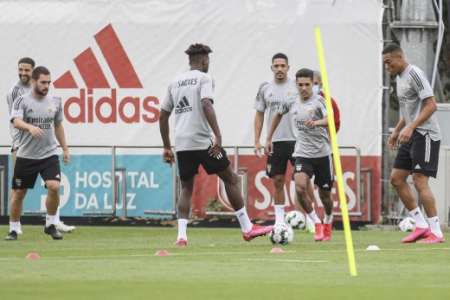 Pedrinho e Gilberto - Benfica - Treino