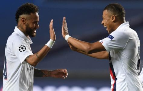 Atalanta x PSG - Liga dos Campeões - Neymar e Mbappé