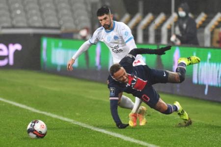 PSG x Olympique de Marselha - Neymar e Álvaro González
