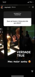 Neymar - Stories sobre o Hexa