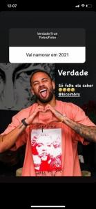 Neymar - Storyes sobre namoro