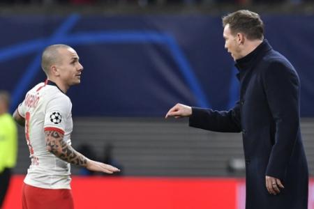 Angeliño e Julian Nagelsmann - RB Leipzig