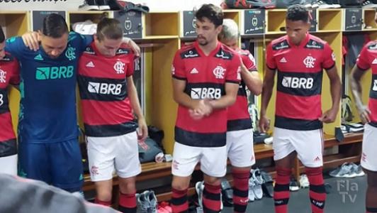 Preparador inova na preleção e Rodrigo Caio puxa coro no vestiário do Flamengo antes de goleada