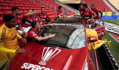 Flamengo x Palmeiras Supercopa do Brasil - Comemoração Título
