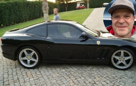 Barrichello e sua nova Ferrari
