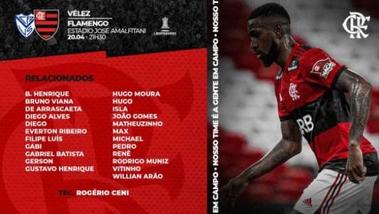 Vélez x Flamengo - Relacionados