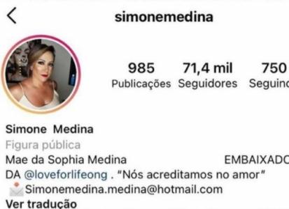 Instagram Mãe Medina