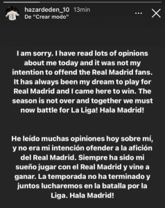 Eden Hazard - Instagram