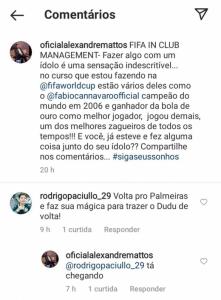 Alexandre Mattos comentário