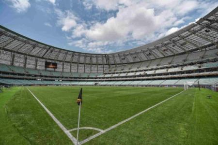 Estádio Olímpico, em Baku, no Azerbaijão